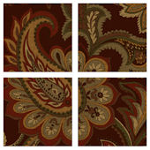 Brown Paisley Decorifex Wall Sticker
