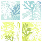 Blue Yellow Plant Life Decorifex Wall Sticker