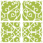 Green Damask Decorifex Wall Sticker
