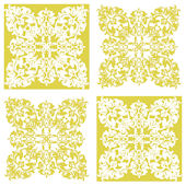 Yellow Damask Decorifex Wall Sticker