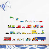 Decowall Transportation Wall Decals