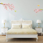 Decowall Cherry Blossom with Birds Wall Decals