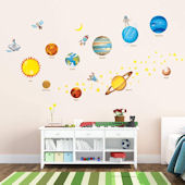 Decowall Planets in Space Wall Decals