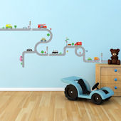 Decowall Road and Vehicles Wall Decals