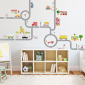 Decowall The Road and Cars Wall Decals