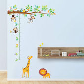 Decowall Little Monkey Growth Chart Wall Decals