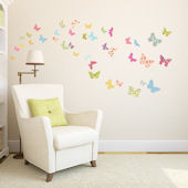 Decowall Patterned Butterflies Wall Decals