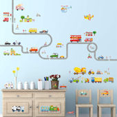 Decowall Road and Transportation Wall Decals