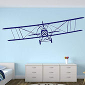 Large Biplane Wall Decal