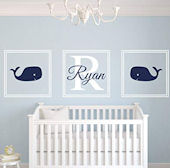 Custom Whale Personalized Wall Decal