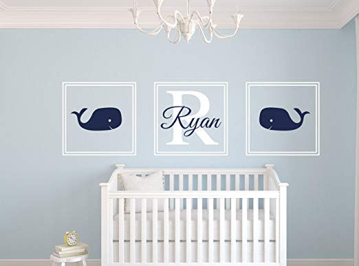 Custom Whale Personalized Wall Decal - Wall Sticker Outlet