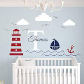 Nautical Lighthouse Personalized Wall Decal