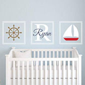 Custom Nautical Name Wall Decal