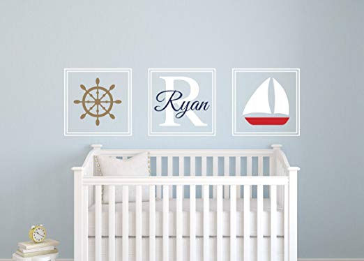 Custom Nautical Name Wall Decal - Wall Sticker Outlet
