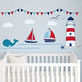 Nautical Theme Personalized Wall Decal