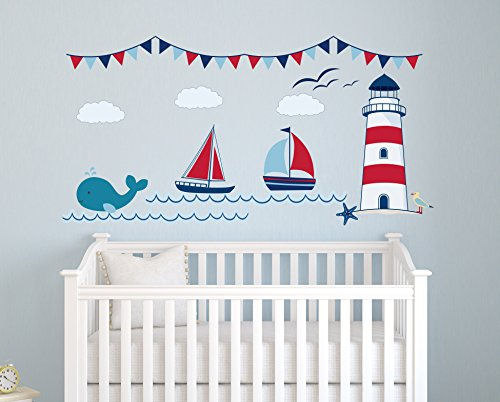 Nautical Theme Personalized Wall Decal - Wall Sticker Outlet