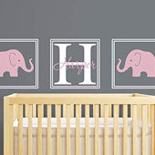 Elephant Name Personaized Wall Decal