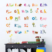 Decowall Animal Alphabet Wall Decals