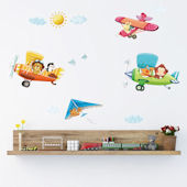 Decowall Biplanes Wall Decals