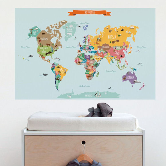 Kids Countries of the World Wall Map Wall Decal - Wall Sticker Outlet