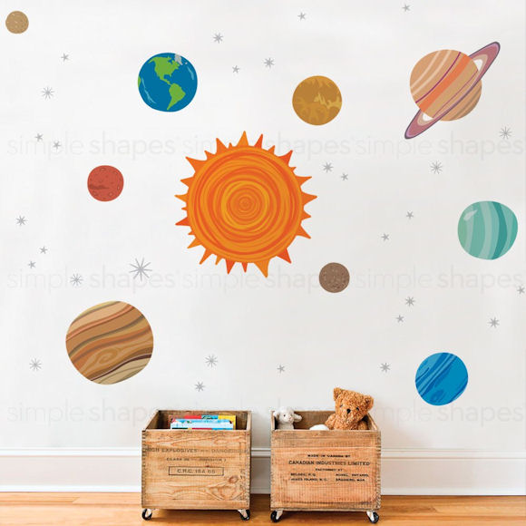 Planets Peel and Stick Wall Decals - Wall Sticker Outlet