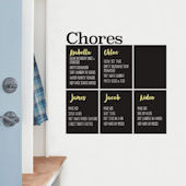Chalkboard Chore Chart Wall Decals