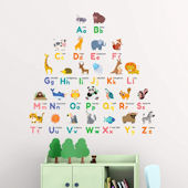 Decowall Colorful Animal ABC Wall Decals