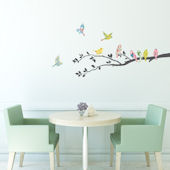 Decowall Floral Birds On Trees Wall Decals