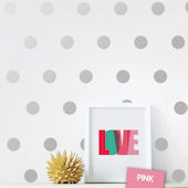 DCTOP Silver Dots Peel and Stick Wall Decals