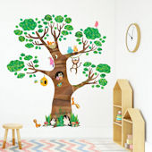 Decowall Giant Tree and Animals Wall Decals