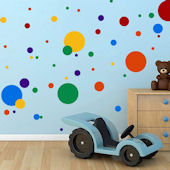 DCTOP Colorful Dots Peel and Stick Wall Decals