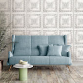 NuWallpaper Reclaimed Tin Peel and Stick Wallpaper