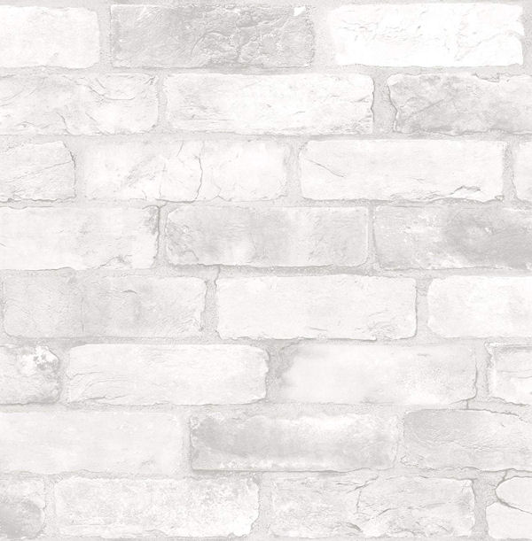 NuWallpaper Loft White Brick Peel Stick Wallpaper - Wall Sticker Outlet