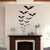 DCTOP Halloween Bats Peel and Stick Wall Decals
