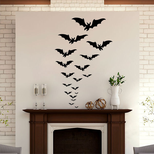 DCTOP Halloween Bats Peel and Stick Wall Decals - Wall Sticker Outlet