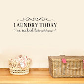 DCTOP Laundry Today Peel and Stick Wall Decals