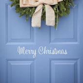 DCTOP Merry Christmas Peel and Stick Wall Decals