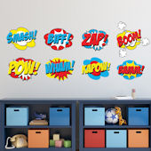 Comic Superhero Wall Decal