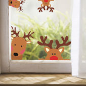 DCTOP Reindeer Peel and Stick Wall Decals