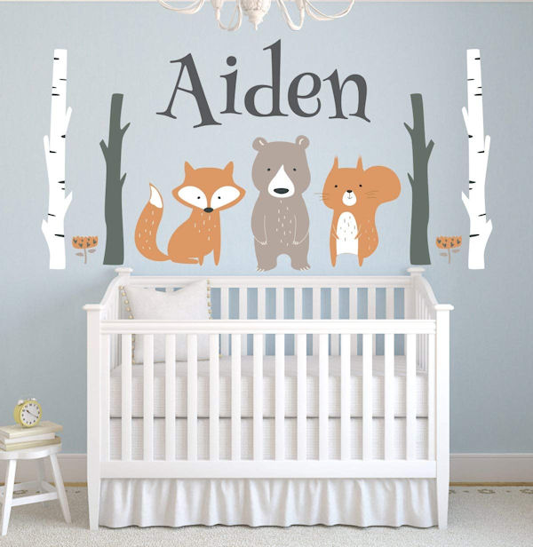 Custom Woodland Animals Personalized Wall Decal - Wall Sticker Outlet