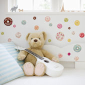 DCTOP Donut Peel and Stick Wall Decals