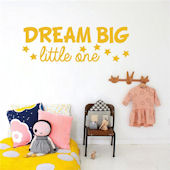 DCTOP Dream Big Peel and Stick Wall Decals