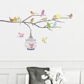 Decowall Birds on A Branch Wall Decals