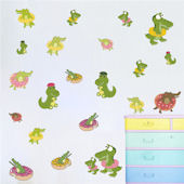 DCTOP Cartoon Crocodile Peel and Stick Wall Decals