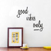 DCTOP Good Vibes Only Peel and Stick Wall Decals
