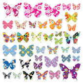 Decowall Colorful Butterflies Wall Decals