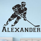 Hockey Player Personalized Wall Decal