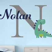 Dinosaur Personalized Name Wall Decal