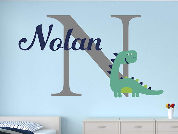 Dinosaur Personalized Name Wall Decal - Wall Sticker Outlet