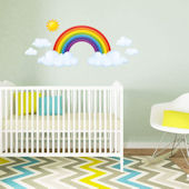 Decowall Rainbow and Clouds Wall Decals